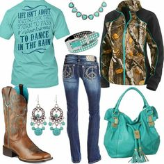 Teal country girl