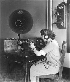 A female two way radio operator at her station, ca. 1910 | Vertex Standard (@VertexStandard) | Twitter