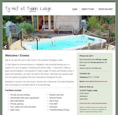 Holiday let Wales website - designed and built by Coventry web design company, Design One For Me