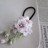 桜ヘアゴム:ホワイト
