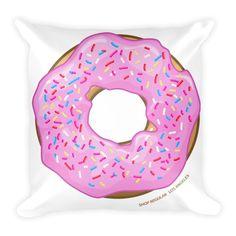 Strawberry Glaze Donut Pillow