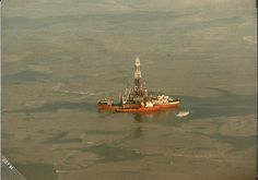 Offshore oil rig in the Beaufort Sea