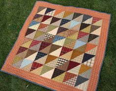 Diary of a Quilter - a quilt blog: Finished plaid quilt (and other random stuff)