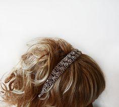 Bridal Hair Accessories Rhinestone Wedding Headband by ADbrdal, $44.00