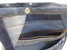 Cool jeans bag cat III denim bag upcycled bag shoulder bag   Etsy Recycle Jeans, Upcycle, Denim Shoulder Bags, Denim Bag, Jeans Pants, Zipper, Cool Stuff, Cats, Cross Body