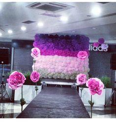 paper flowers backdrop