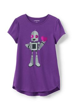 Girls Aline Spring Graphic Knit Tee