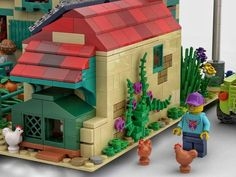 LEGO IDEAS - A Nice Day at the Farm Rain Water Collector, Fishing Boats, Solar Panels, Good Day, Legos, Vegetable Garden, Eco Friendly, Lego Ideas, Nice