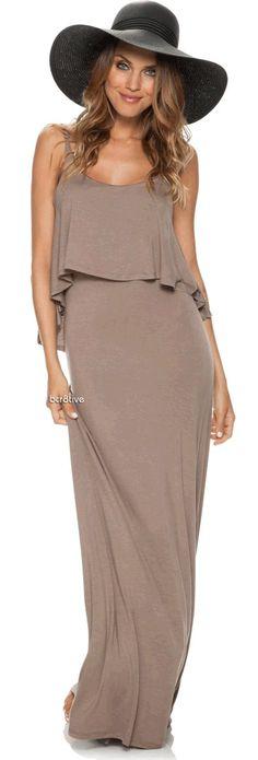 Swell Flutter Top Maxi Dress