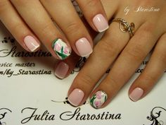 April nails, Beautiful nails 2016, Delicate spring nails, French manicure shellac, French manicure with pictures, Spring french manicure, Spring nail designs, Spring nails by gel polish
