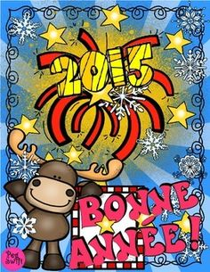 Perfect paquet for your first days back to school after the winter holidays! New Year activities in French ~ Bonne Année! Writing prompts, lists, letter writing, counting and drawing! New Years Activities, Printable Activities For Kids, French Teaching Resources, Teaching French, Happy New Year 2015, Core French, French Immersion, Autism Classroom, Valentines Day Party