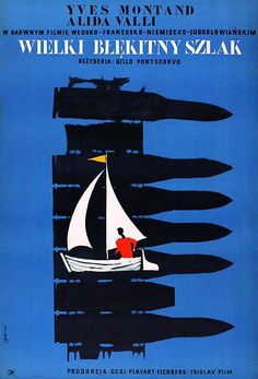 The Wide Blue Road, Polish Movie Poster Polish Movie Posters, Movie Posters For Sale, Bud Spencer Terence Hill, French Movies, Western Film, Sketchbook Inspiration, Vintage Movies, Graphic Design Illustration, Poster