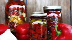 Φτιάξτε βήμα βήμα ψητές πιπεριές φλωρίνης στο βάζο!