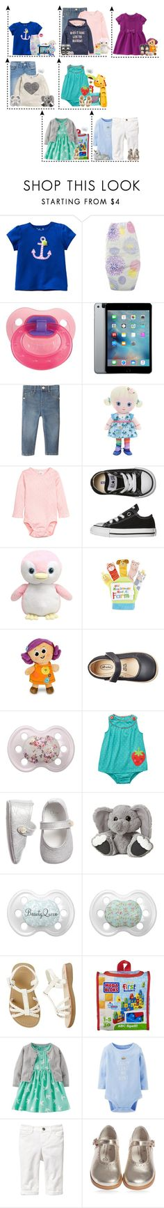 """""""Sem título #450"""" by lovetini6412 ❤ liked on Polyvore featuring Gymboree, The Honest Company, Fisher Price, Converse, Disney, Shabby Chic, Mega Bloks, Carter's and Old Navy"""