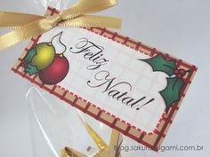 Lembrancinha de Natal: enfeite de tsuru - SakuraOrigami.com.br