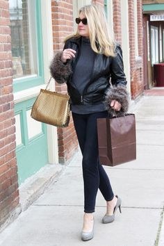 Create a fun, removable pair of faux fur cuffs to wear on several of your coats and jackets this winter season.