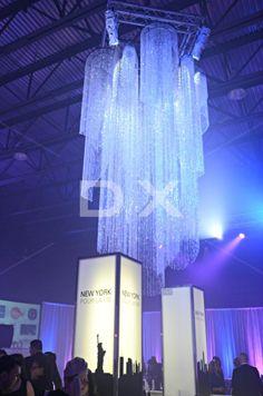 Big Custom Crystal Chandelier in Hangar by DX Design