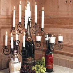 Wine Bottle Candleabra #gift