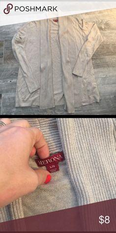 Merona open front cardigan tan size L Merona open front cardigan tan size L Merona Sweaters Cardigans
