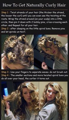 Curls for those with straight hair  @ http://seduhairstylestips.com
