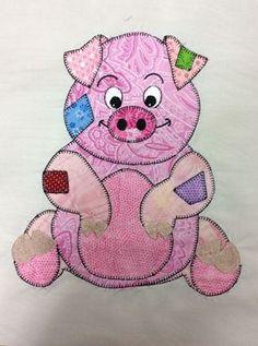 block for baby block for baby quilt Baby Applique, Applique Quilt Patterns, Applique Designs, Embroidery Applique, Machine Embroidery, Girls Quilts, Baby Quilts, Quilting Projects, Quilting Designs