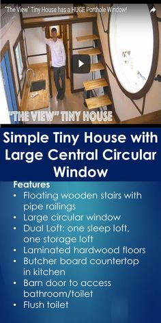 Tiny House Tour: Simple Tiny House with Large Central Circular Window | Tiny Quality Homes