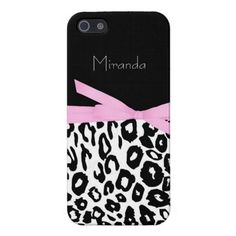 Black and White Leopard Print iPhone 5 Case