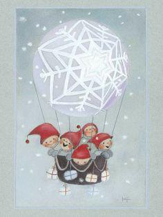 Postcrossing postcard from Finland Christmas Music, 1st Christmas, Christmas Crafts, Christmas Illustration, Illustration Art, Decoupage, Creation Photo, Christmas Cartoons, I Love Winter