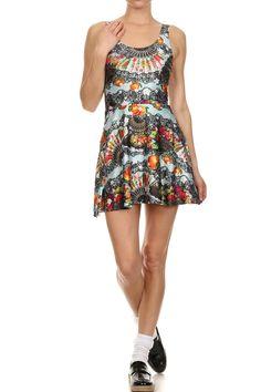 Spanish Romance Skater Dress from POPRAGEOUS