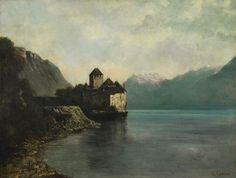 Gastav Courbet - El Châteu de Chillon (Impressionism & Open Air Painting @ Museo Thyssen-Bornemisza)