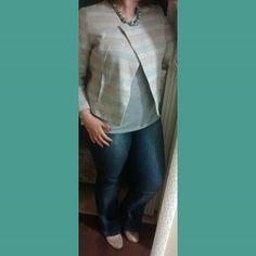 Obrigada 20°c por me permitir usar  minha jaqueta linda com dignidade. Jaqueta, blusa e calça @lojasrenner