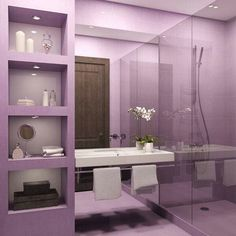 Purple Bathrooms By Franco Pecchioli Ceramica | Purple Bathrooms, Gray And  Passion