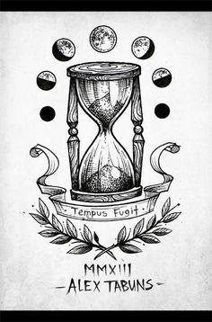 I like the idea of moon phases Time Tattoos, Cool Tattoos, Tattoo Sketches, Tattoo Drawings, Pencil Drawings, Hourglass Tattoo, Hourglass Drawing, Future Tattoos, Tattoo Ideas