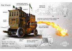 A fantasy/medieval wagon concept I did for school. Fantasy Sword, Fantasy Weapons, Fantasy Rpg, Medieval Fantasy, Medieval Weapons, Weapon Concept Art, Warhammer Fantasy, War Machine, Dieselpunk