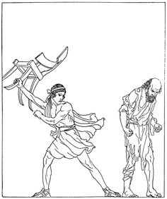 """""""The adventures of Odysseus and the tale of Troy. Part II"""" (1918). Illustration by Willy Pogány"""