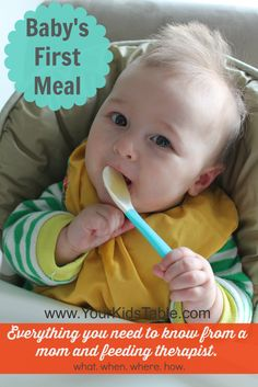 Baby's first meal foods