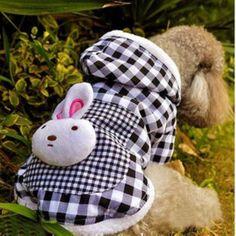 Pet Dog Cotton Clothes Denim Canvas Doggie Shoes Cute Cat Bowknot Tie