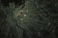 The night lights of Tokyo, Japan, are pictured from the International Space Station as it orbited 261 miles above the island nation. Astronaut Images, Tokyo Night, International Space Station, Island Nations, Weather Science, Nasa, Women's Activewear, Earth, Aircraft Design