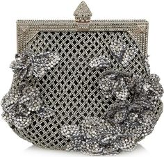 Valentino beaded satin clutch (via ♥ charcoal grey ♥)