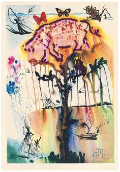 Illustrations for Lewis Carroll's Alice in Wonderland by Salvador Dali - Lewis Carroll, Dark Alice In Wonderland, Adventures In Wonderland, Salvador Dali Kunst, Alice In Wonderland Illustrations, Colossal Art, Art Moderne, Anime Comics, Pepper