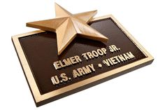Our cast bronze plaques are made with a C90300 lead-free alloy that creates a durable and long lasting product. Cast bronze is an attractive option with a classic look.