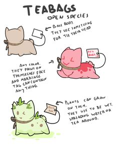 OPEN SPECIES - Teabags by Ayinai.deviantart.com on @DeviantArt