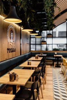 Modern Restaurant Design, Deco Restaurant, Restaurant Seating, Restaurant Furniture, Bakery Shop Interior, Coffee Shop Interior Design, Bistro Interior, Cafe Shop Design, Interior Architecture