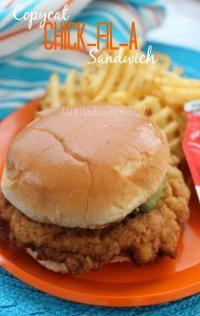Copycat Chick-fil-A Sandwich. A perfect copycat chick fil a sandwich!