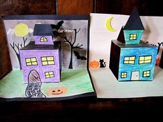 Haunted House Pop-Up Craft #halloween