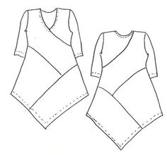 How to draft your own asymmetrical hem dress pattern by