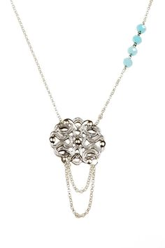 gorgeous necklace with a hint of baby blue!