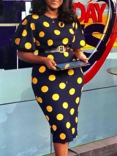 African Fashion Short Sleeve Polka Dots Print Women's Bodycon Dress Fashion girls, party dresses long dress for short Women, casual summer outfit ideas, party dresses Fashion Trends, Latest Fashion # Bodycon Dress With Sleeves, Dresses With Sleeves, Midi Dresses, Work Dresses, Floral Dresses, Party Dresses, African Wear, African Dress, African Fashion Dresses