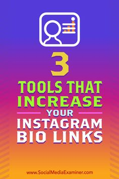Want to get more out of your Instagram bio link?  Do you wish you could share multiple links via Instagram?  In this article, you'll discover three tools that let you serve links to people who click on your Instagram bio.