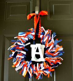 The Auburn wreath I made for the front door